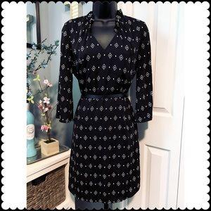 White House Black Market Printed Shirt Dress.